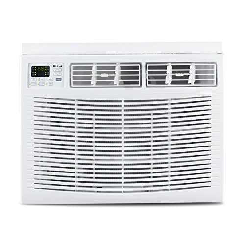 - DELLA Mini Compact Window-Mounted Air Conditioner 15,000 BTU 115-Volt with Remote Control up to 750 Sq ft Energy Star