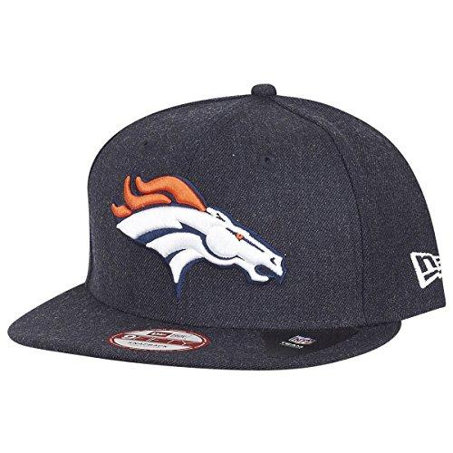 拒否散歩に行くオリエンテーションニューエラ (New Era) スナップバック キャップ - NFL デンバーブロンコズ (Denver Broncos) ヘザー ネイビー