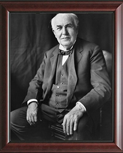 Thomas Edison Invented The Electric Light Bulb 14 x 17 Large Framed Print Celebrity (20s Large Bulb)