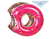 UCLEVER 2 Packs Donut Pool Float Inflatable Swimming Ring 70CM for Children Kids 3-8 Years( Strawberry & Chocolate)