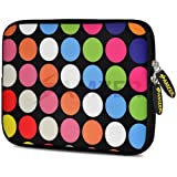 Amzer 7.75-Inch Designer Neoprene Sleeve Case Cover Pouch for Tablet, eBook and Netbook - Dots Galore (AMZ5192077)