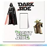Star Wars Light Switch Stickers. Black, Colour, or Glow-in-the-Dark. decal child room lightswitch wall vinyl dark side darth vader yoda by SuperDuperDecor® - COLOUR