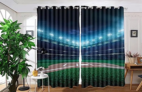 vanfan 2 Panel Set Digital Printed Blackout Window Curtains for Bedroom Living Room Dining Room Kids Youth Room Window Drapes(W54