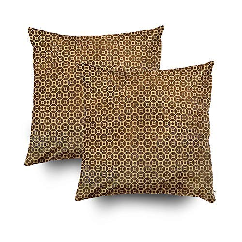 (MurielJerome Pillowcase Rusty Steampunk Polka dot 16X16 Inch 2 Set, Decorative Throw Custom Pillow Case Cushion Cover Home)