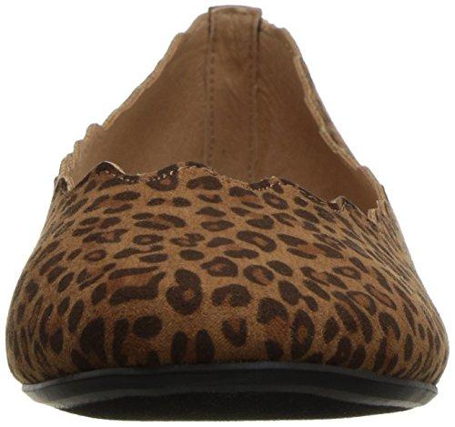 Frauen Alexander Flache Tan Leopard Athena Schuhe vPAzxwq88