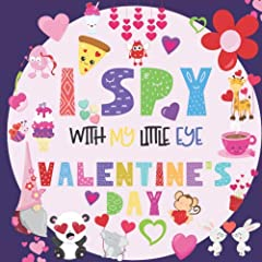 I Spy Book Books                     If you are looking for an interactive I Spy book for kids ages 2-5 then this fun activity book is perfect for you. This one has the Valentine's Day theme and is full of love!               ...