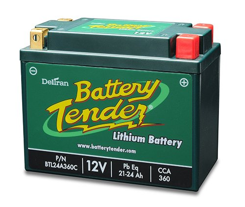 Lithium Iron Phosphate 12V 24AH 360CCA Replaces Yuasa YB30CL-B by Battery Tender
