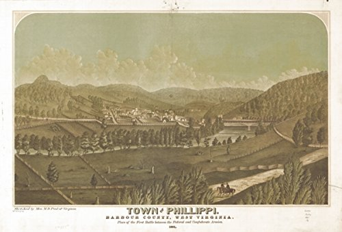 Map: 1861 Town of Phillippi, Barbour County, West Virginia. 1861|Philippi|Philippi|West - Monday Cyber Coupons 2014