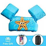 AmazeFan Kids Swim Life Jacket Vest for Swimming Pool, Swim Aid Floats with Waterproof Phone Pouch and Storage Bag,...