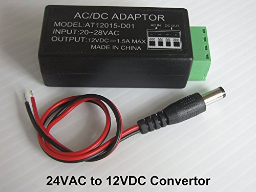 24VAC To 12VDC Convertor For CCTV Security Camera Power Supply ()