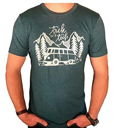 Trek Over Tech Premium Triblend Short Sleeve T-Shirt | Unisex Fit | Donates $1.00 to CHD's Steel Blue ()