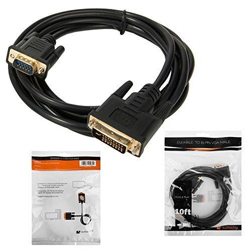 Sumaclife DVI Male 15 pin VGA Male Cable