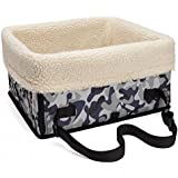 Nicrew Dog Booster Seat Pet Car Safety Seat, for dogs up to 8 lbs, Small, Camouflage