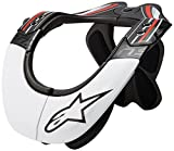Alpinestars Men's Bans Pro Neck Support, Black/White/Red, X-Small/Medium For Sale