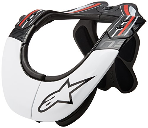 Alpinestars Men's Bans Pro Neck Support, Black/White/Red, ()