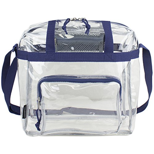 Eastsport Clear NFL Stadium Approved Tote, Navy Blue ()