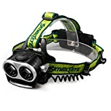 Feccoe 3 Modes 6000LM 2X XM-L T6 LED Rechargeable 18650 USB Headlamp Headlight Head Light Torch , Hands-free Flashlight, Waterproof Head Light Lamp Torch,for Hiking Camping Night Fishing Running Camping Riding (Model A)