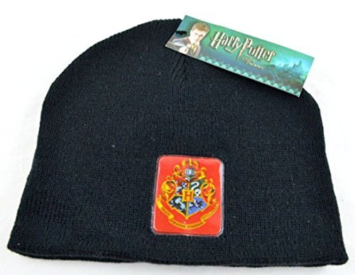 96f1769d922 Image Unavailable. Image not available for. Color  Harry Potter Hogwarts  Crest Black Beanie ...