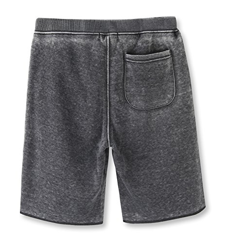 HETHCODE Men's Casual Classic Fit Cotton Elastic Fleece Jogger Gym Shorts Burnout Gray XL by HETHCODE (Image #1)