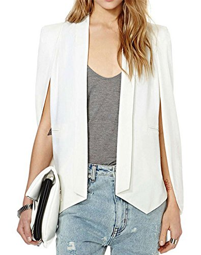 mikty-womens-open-sleeve-cape-blazers-irregular-chiffon-blazer-suit-without-buttons-white-l