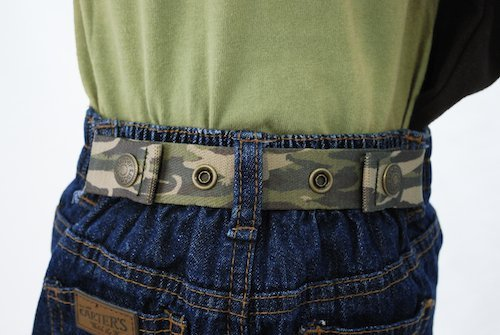 Dapper Snapper Baby and Toddler Adjustable Belt ~ Gator Camo