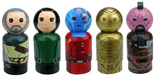 Bif Bang Pow! Guardians of The Galaxy Vol. 2 Iconic Characters Pin Mate Wooden Figure Set (5 Piece)