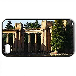 Palace of Fine Art, San Francisco - Case Cover for iPhone 4 and 4s (Modern Series, Watercolor style, Black)