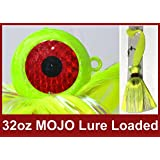 Blue Water Candy - Rock Fish Candy 32 oz Cannonball Mojo Lure Loaded with 9-Inch Swimbait Shad Body (Chartreuse)