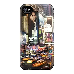 High-end Case Cover Protector For Iphone 4/4s(night In Midtown Manhattan)