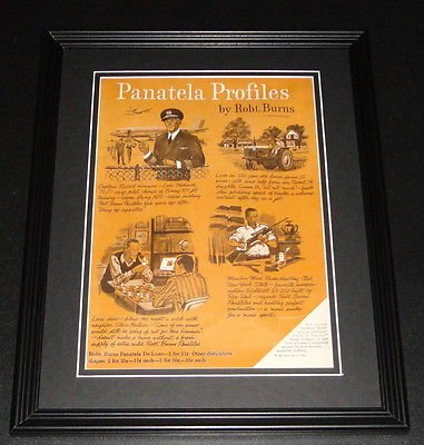 Panatela Pack - 1959 Robert Burns Panatela Profiles Framed ORIGINAL Vintage Advertisement B