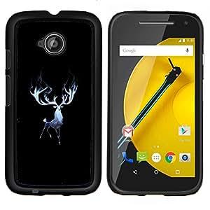 LECELL--Funda protectora / Cubierta / Piel For Motorola Moto E2 E2nd Gen -- Majestic cuernos de los ciervos Elk --