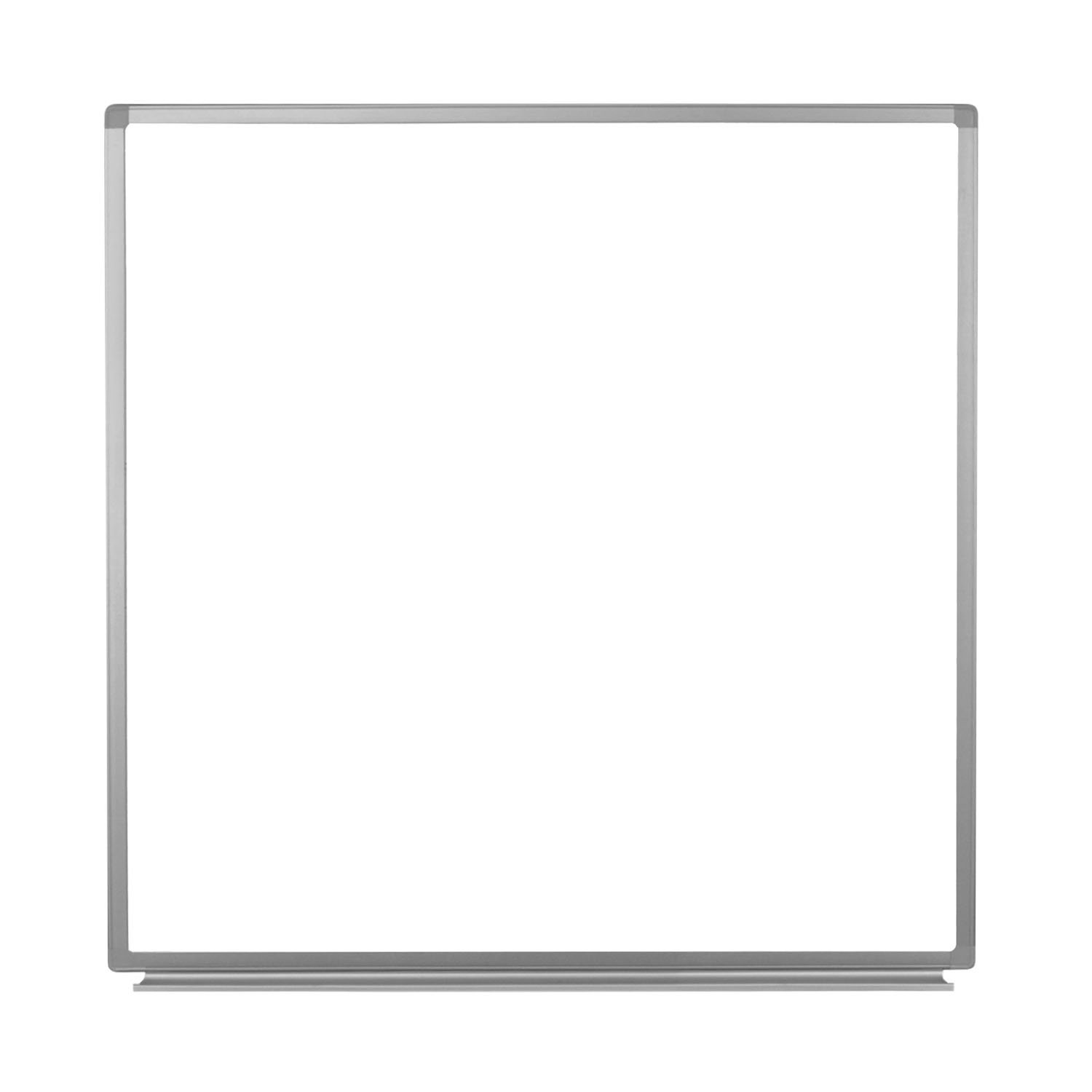 Luxor Office 48'' x 48'' Wall-Mounted Magnetic Whiteboard