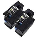 O'Image 2-Pack E525 Black Toner Cartridge Replacing for Dell E525W Color Laser All-in-One Multifunction Wireless and Cloud Ready Printer (2-Pack: Black)