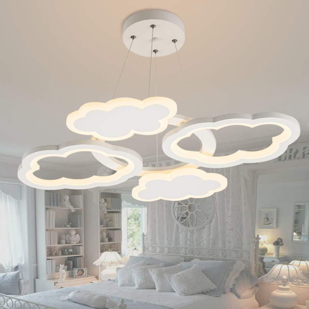 Led Kronleuchter Für Mädchen Zimmer,D 66cm Wolke Form Hängelampe Für kinder-Zimmer Schlafzimmer Kindergarten Cartoon Beleuchtung 40w-Warmes Licht