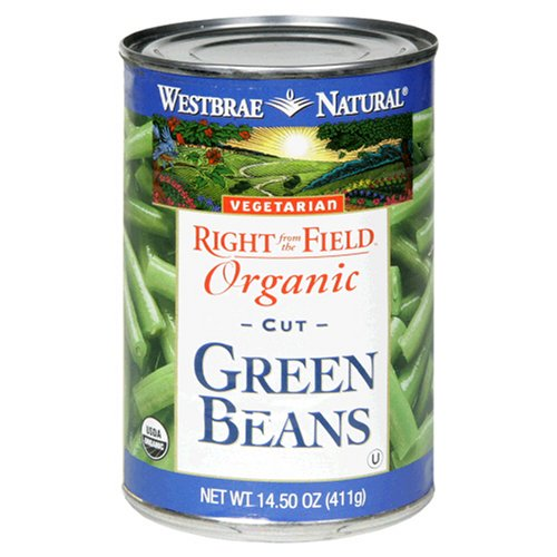 Westbrae Natural Organic Cut Green Beans, 14.5 Ounce Cans (Pack of 12)