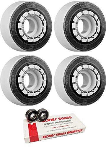 コンピューター確立理想的52 mm Bones Wheels STF Pro Bufoni HarleyスケートボードWheels with Bones Bearings – 8 mm Bones Swiss Skateboard Bearings – 2アイテムのバンドル