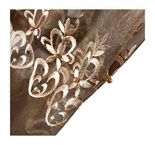 Cortinas de lujo estilo europeo de simplicidad, estilo de empalme, panel de cortina para ventana para sala de estar, sala de...
