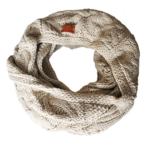 (Carrolls Irish Gifts Aran Traditions Knitted Style Cable Design Snood, Oatmeal Colour)