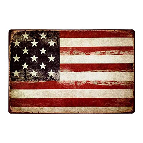 (HANTAJANSS America Flag Signs Retro Metal Signs for Wall Art Decoration 12 X 8 Inches )