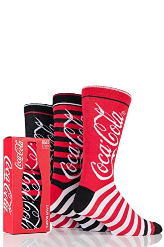 mens-3-pair-coca-cola-striped-cotton-socks-red-6-11-mens