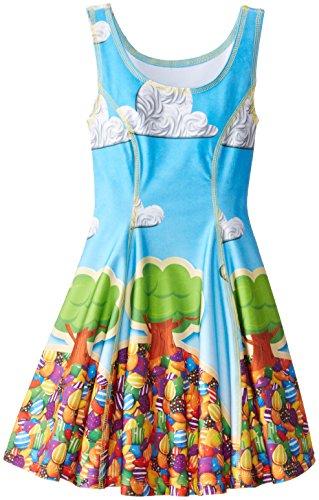 Zara Terez Big Girls' Candy Crush Candy Land Skater Dress, Multi, X-Large