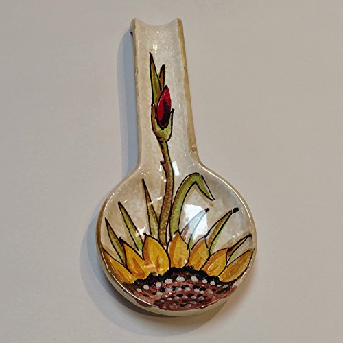 Arte D'Italia Imports Audrey Handmade Hand Painted Italian Pottery Spoonrest by Arte D'Italia Imports