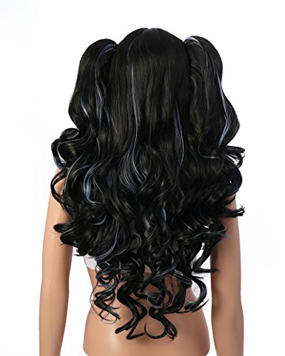 OneDor-Lolita-Multi-Color-Long-Curly-Claw-Clip-on-Ponytail-Cosplay-Heat-Friendly-Party-Costume-Wig