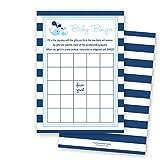 MyExpression.com 24 Blue Whale Splash Baby Bingo Cards