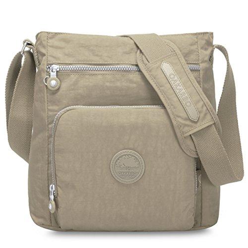 271123dbc627 Oakarbo Nylon Crossbody Purse Multi-Pocket Travel Shoulder Bag (1301 Desert  sand) Review