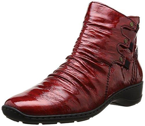 Rieker 78383-35, Damen Stiefel Rot (Rouge)