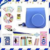 LuckyStar 20 in 1 Accessories Bundles for Fujifilm Instax Mini 8 8+ 9 Instant Camera (Cobalt Blue Mini 8/8+/9 Case, Selfie Lens, Mini Albums, Stand Albums, Film Frame, Film Stickers + More)