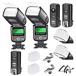 Neewer VK750 II Pro i-TTL Auto-Focus Flash for Nikon DSLR Camera Deluxe Kit with Accessories (10 Items)