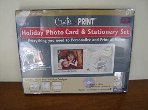 AMERICAN GREETINGS IMPRINTABLES CREATE & PRINT HOLIDAY CARDS (Imprintable Christmas Cards)