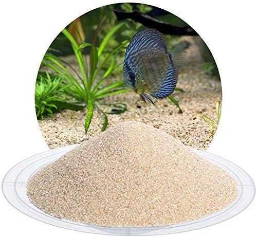 Schicker Mineral Aquariumsand Aquariumkies beige im 10 kg Sack, kantengerundet, gewaschen, ungefärbt